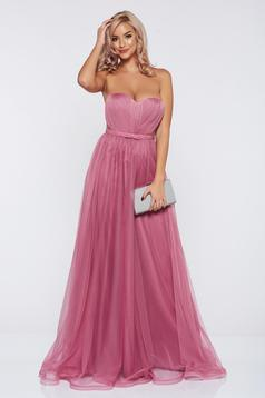 Világos rózsaszín Ana Radu alkalmi ruha tűll szivacsos mellrész