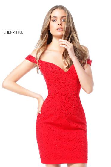 Piros Sherri Hill 51324 Ruha