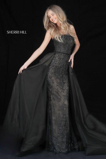 Fekete Sherri Hill 51384 Ruha