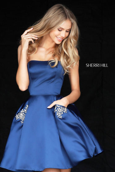 Kék Sherri Hill 51390 Ruha