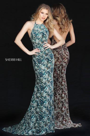 Zöld Sherri Hill 51410 Ruha