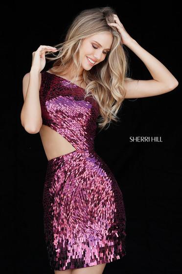 Sherri Hill 51497 Magenta Ruha