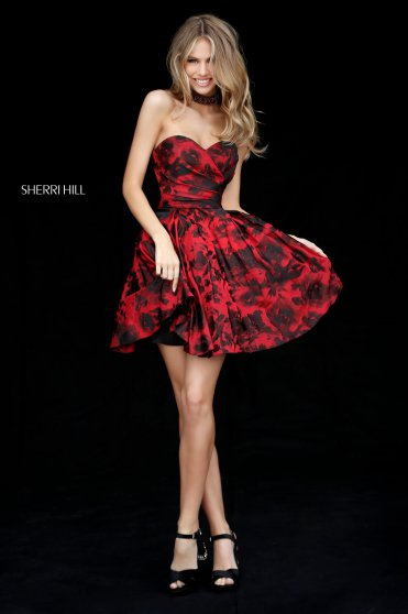 Sherri Hill 51502 Red/black Ruha