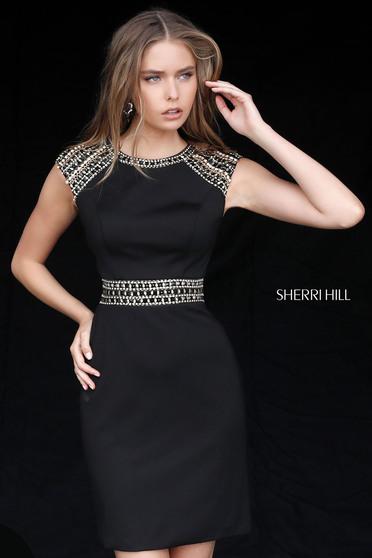 Sherri Hill 51523 Fekete Ruha