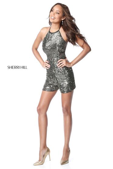 Fekete Sherri Hill 51513 Ruha