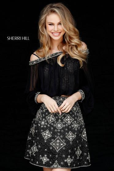 Fekete Sherri Hill 51357 Ruha