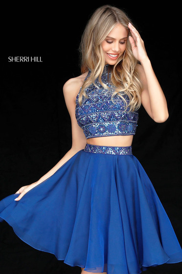 Kék Sherri Hill 51297 Ruha