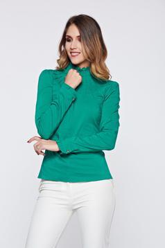Zöld Fofy irodai női ing rugalmas pamut