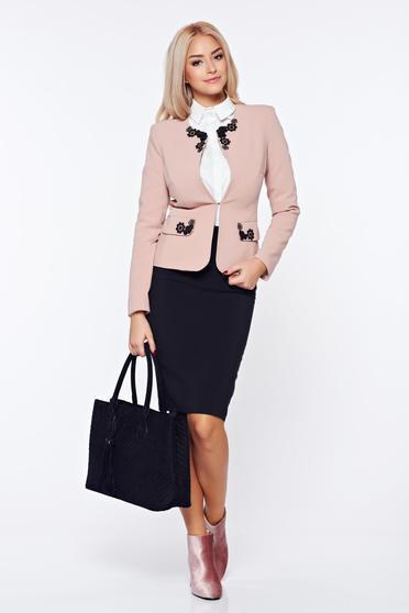 Rózsaszínű LaDonna irodai szett szövettel hímzett betétekkel