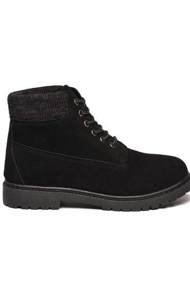 Fekete Top Secret lapos talpú cipő