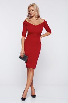 Piros StarShinerS elegáns fall in love ruha masni alakú kiegészítővel