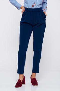 Kék PrettyGirl irodai szövet nadrág zsebekkel