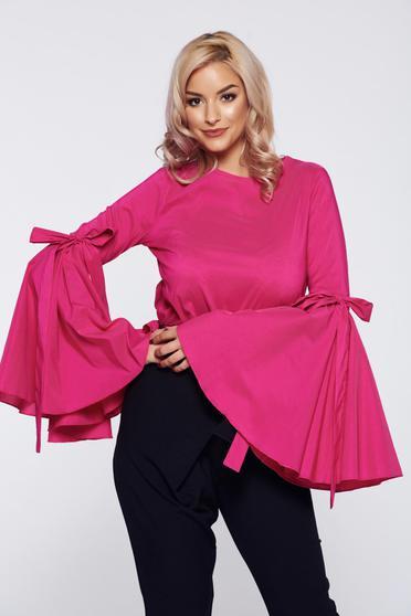 Pink PrettyGirl elegáns női blúz harang ujjakkal