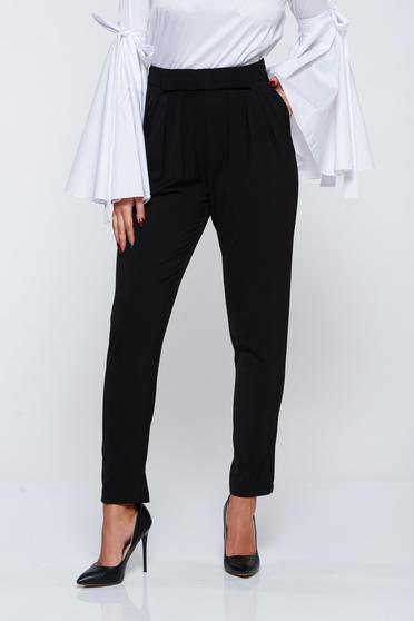 Fekete PrettyGirl irodai szövettel nadrág zsebes