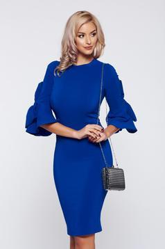 Kék Artista elegáns hétköznapi ruha masnikkal ellátva