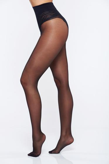 Fekete 20 den karcsusito lekerekitett sarku harisnya női harisnyanadrág láthatatlan varrás