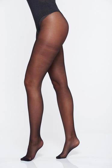 Fekete női harisnyanadrág 20 den fényes anyag derekon gumirozott harisnya