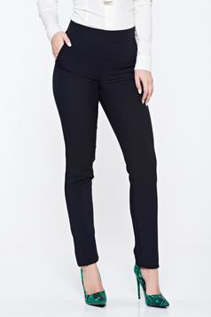 Fekete Fofy kónikus irodai zsebes nadrág