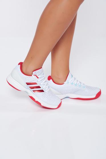 Fehér Adidas hétköznapi sport cipő lapos talpú műbőr
