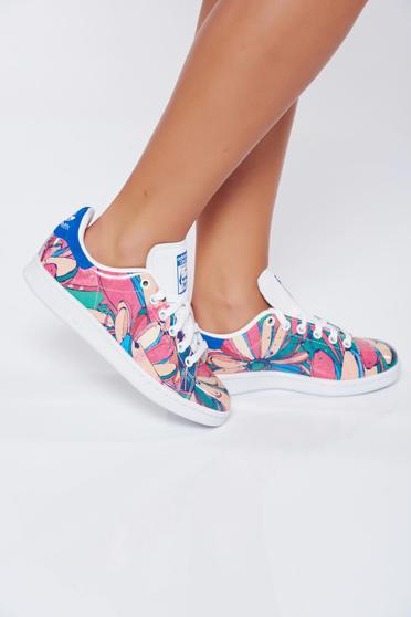 Rózsaszínű hétköznapi virágmintás sport cipő