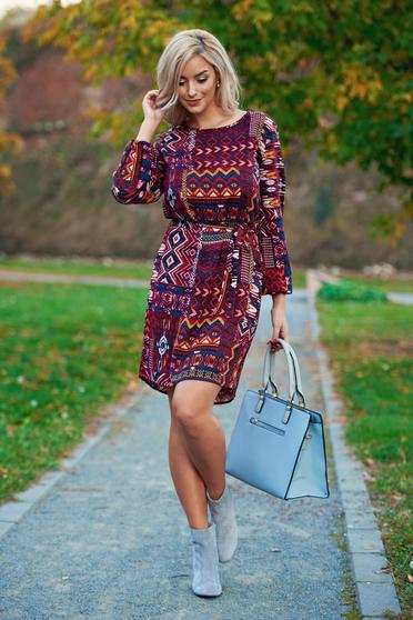 Piros Top Secret hétköznapi bő szabású ruha grafikai mintával