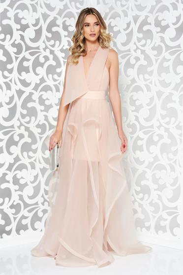 Rózsaszínű Ana Radu alkalmi ruha kivágott hátrész