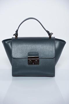 Szürke hétköznapi táska egy rekesz, belső zsebekkel