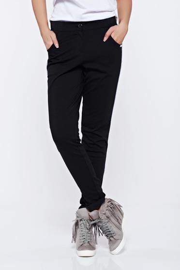 Fekete PrettyGirl hétköznapi zsebes nadrág