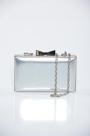 Ezüst alkalmi táska fémes jelleg fémes kiegészítő