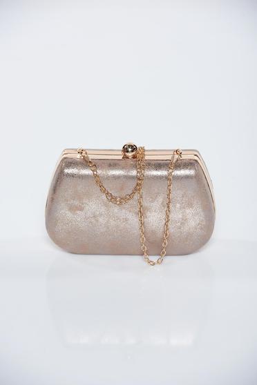 Krém fémes jelleg alkalmi táska fémes kiegészítő