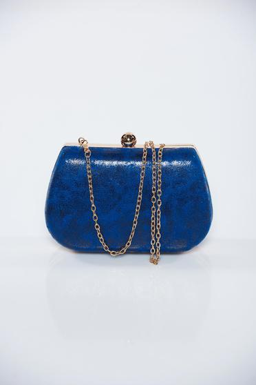 Kék fémes jelleg alkalmi táska fémes kiegészítő