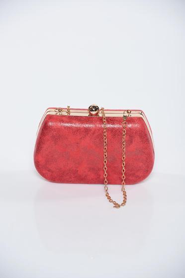 Piros fémes jelleg alkalmi táska fémes kiegészítő