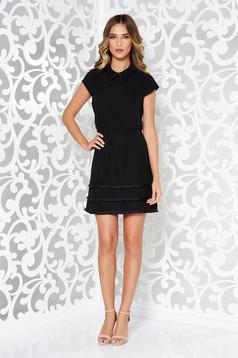Fekete Ana Radu alkalmi ruha fátyol anyagból