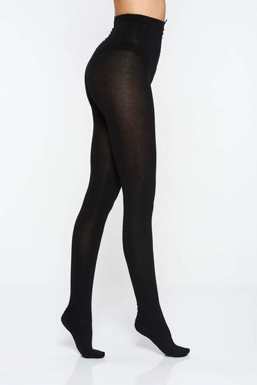Fekete 450 den női harisnyanadrág szűk szabás finom varrasok