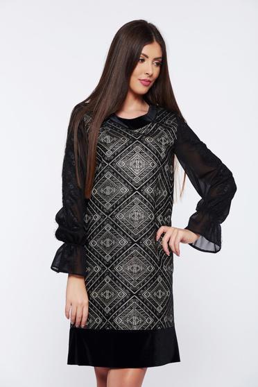Fekete LaDonna bő szabású ruha