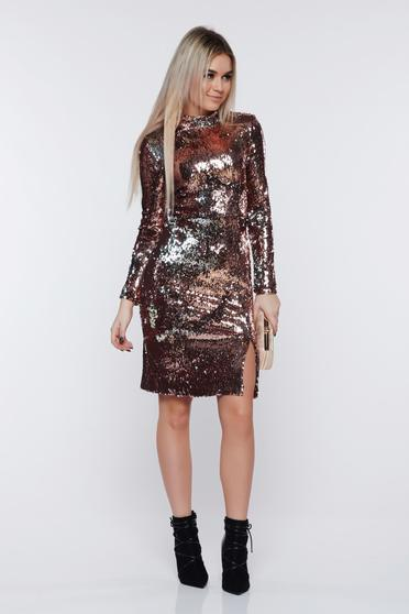 Ezüst StarShinerS ruha alkalmi flitter belső béléssel
