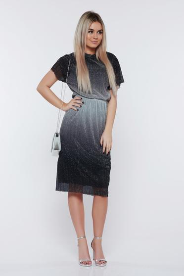Ezüst StarShinerS ruha alkalmi fémes jelleg derékban rugalmas