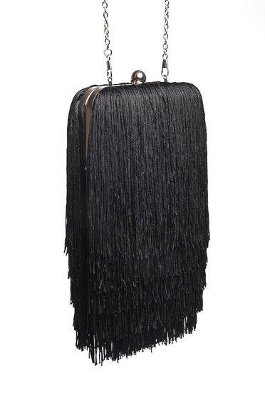 Fekete Top Secret elegáns táska rojtokkal
