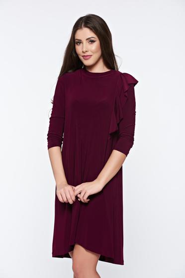 Lila StarShinerS hétköznapi bő szabású aszimetrikus ruha lenge anyagból