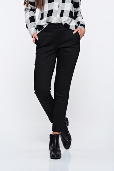 Fekete Top Secret hétköznapi kónikus nadrág derékban rugalmas