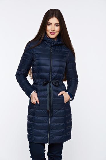 Sötétkék Top Secret vízhatlan dzseki belső béléssel a kapucni nem távolítható el