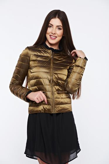 Arany Top Secret vízhatlan dzseki belső béléssel cipzáros zsebekkel