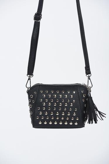 Fekete Top Secret hétköznapi műbőr táska szegecsekkel