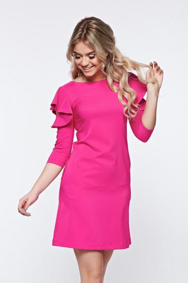 Pink LaDonna bő szabás ruha fodrozott ujjakkal
