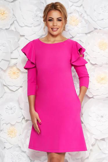 1f9d25ca13 Pink LaDonna bő szabás ruha fodrozott ujjakkal