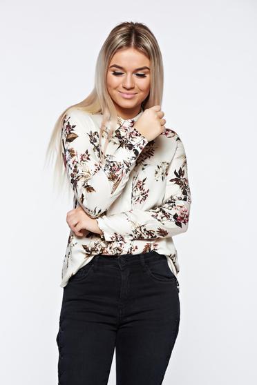 Fehér Top Secret női ing bő szabás lenge anyagból casual