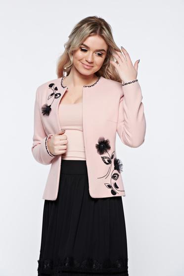Rózsaszínű LaDonna elegáns gyapjú blézer belső béléssel