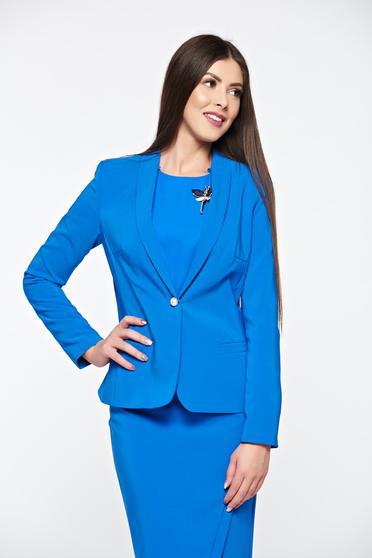 Kék LaDonna szűkített blézer belső béléssel