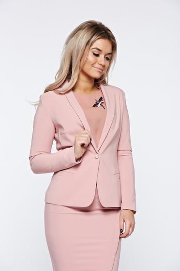 Rózsaszínű LaDonna szűkített blézer belső béléssel