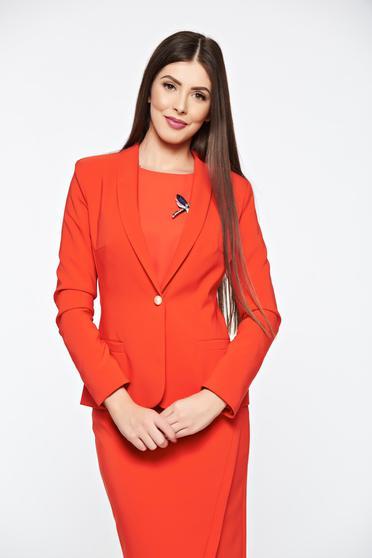 Piros LaDonna szűkített blézer belső béléssel